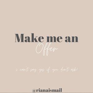 ✨Make me an offer✨